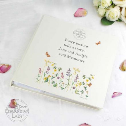 Personalised Country Diary Wild Flowers Photo Album With Sleeves